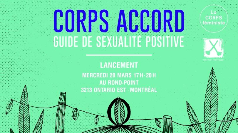 Affichette lancement livre CORPS ACCORD